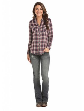 Rock and Roll Cowgirl Women's Rock & Roll Cowgirl Snap Front Shirt B4S7002