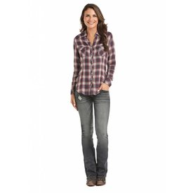 Rock and Roll Cowgirl Women's Rock & Roll Cowgirl Snap Front Shirt B4S7002 C5