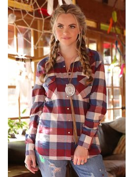 Cruel Girl Women's Cruel Girl Snap Front Shirt CTW7024007