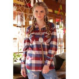 Cruel Girl Women's Cruel Girl Snap Front Shirt CTW7024007 C4