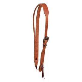 Berlin Custom Leather Brown Iron Buckle Split Ear Headstall