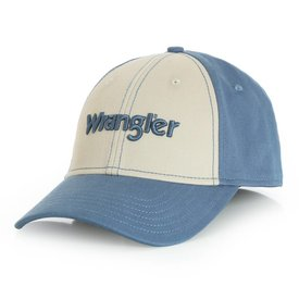 Wrangler Men's Tan and Blue Cap
