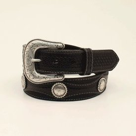 Nocona Belt Co. Men's Embossed Tabs and Overlay Western Belt