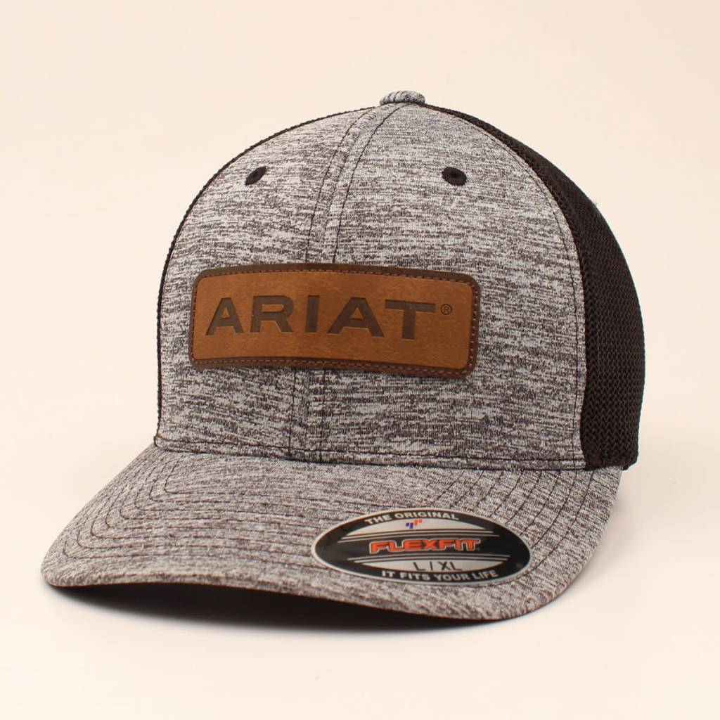 21fe54293e0c0 ARIAT HEATHER GREY LEATHER PATCH A300002601