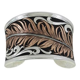 Montana Silversmiths Copper Feather Cuff Bracelet