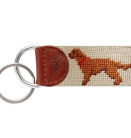 Smather's & Branson Key Fob Chocolate Lab