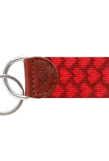 Smather's & Branson Key Fob Heart Pattern