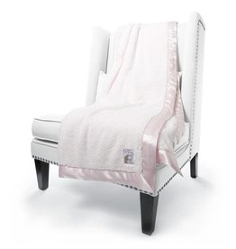 Chenille Throw Pink
