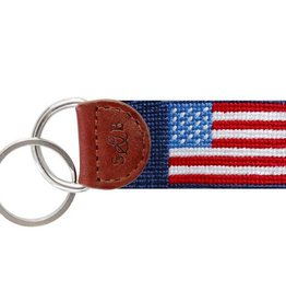 Smather's & Branson Key Fob American Flag Navy