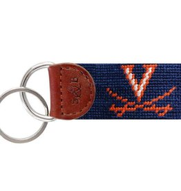 Smather's & Branson Key Fob Virginia Navy