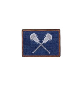 Smather's & Branson Card Wallet LaCrosse Navy