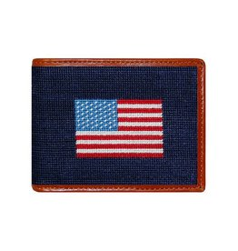 Smather's & Branson Wallet American Flag Navy