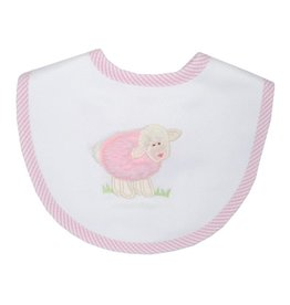 Three Marthas Bib Medium Pink Lamb