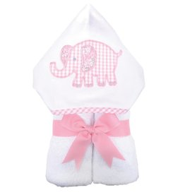 Three Marthas Everykid Towel Pink Elephant