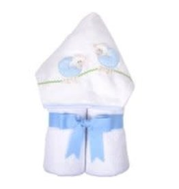 Three Marthas Everykid Towel Blue Lamb