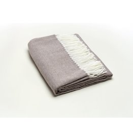 A Soft Idea Herringbone Throw Taupe