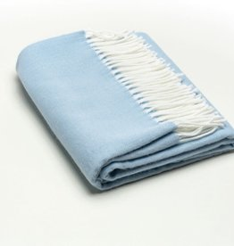 A Soft Idea Herringbone Throw Sky