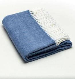 A Soft Idea Herringbone Throw Denim
