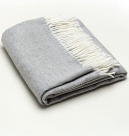 A Soft Idea Herringbone Throw Light Grey