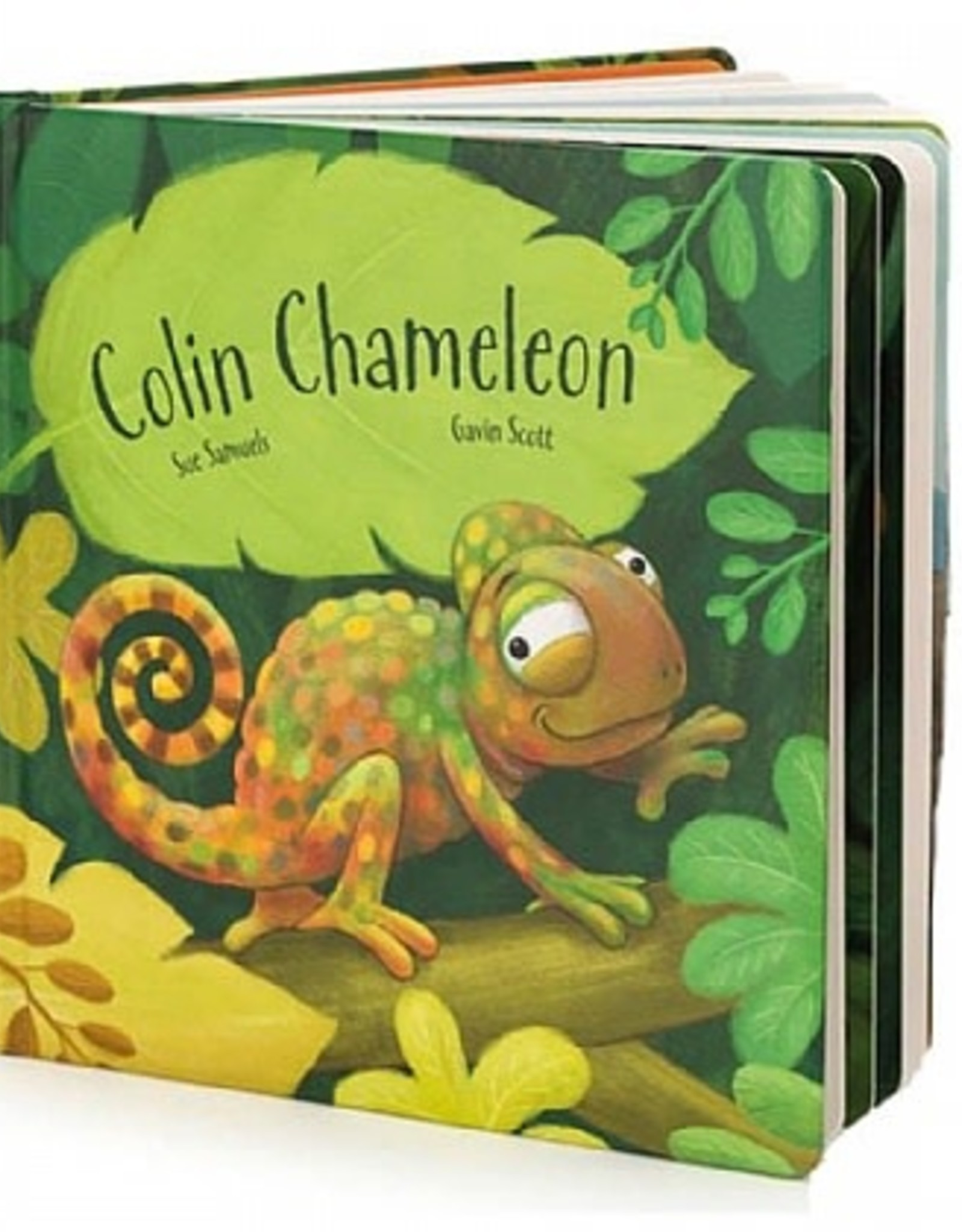 Jelly Cat Colin the Chameleon Book