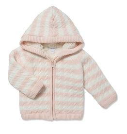 Angel Dear Sherpa Hoodie Pale Pink