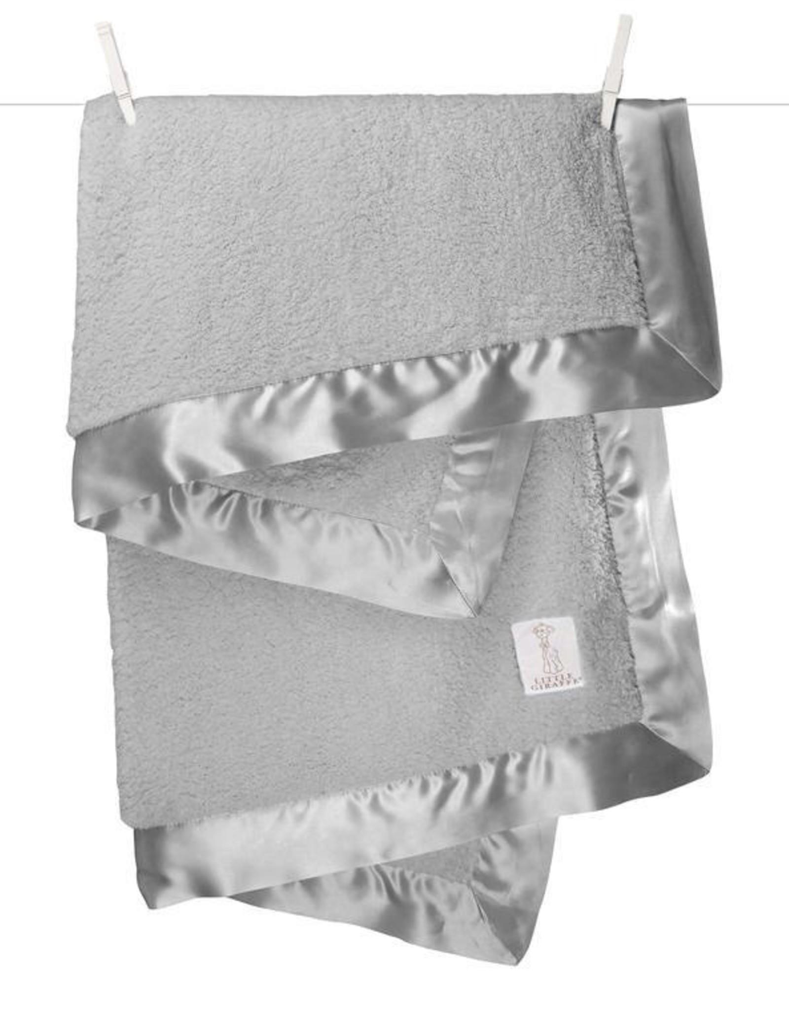 Little Giraffe Chenille Blanket Silver