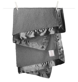 Little Giraffe Chenille Blanket Charcoal