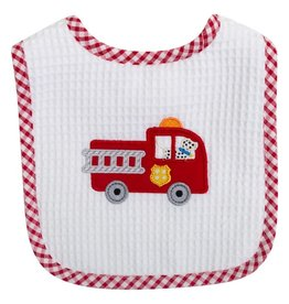 Three Marthas Feeding Bib Firetruck