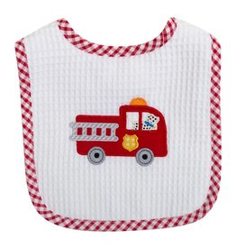 Three Marthas Feeding Bib Fire Truck