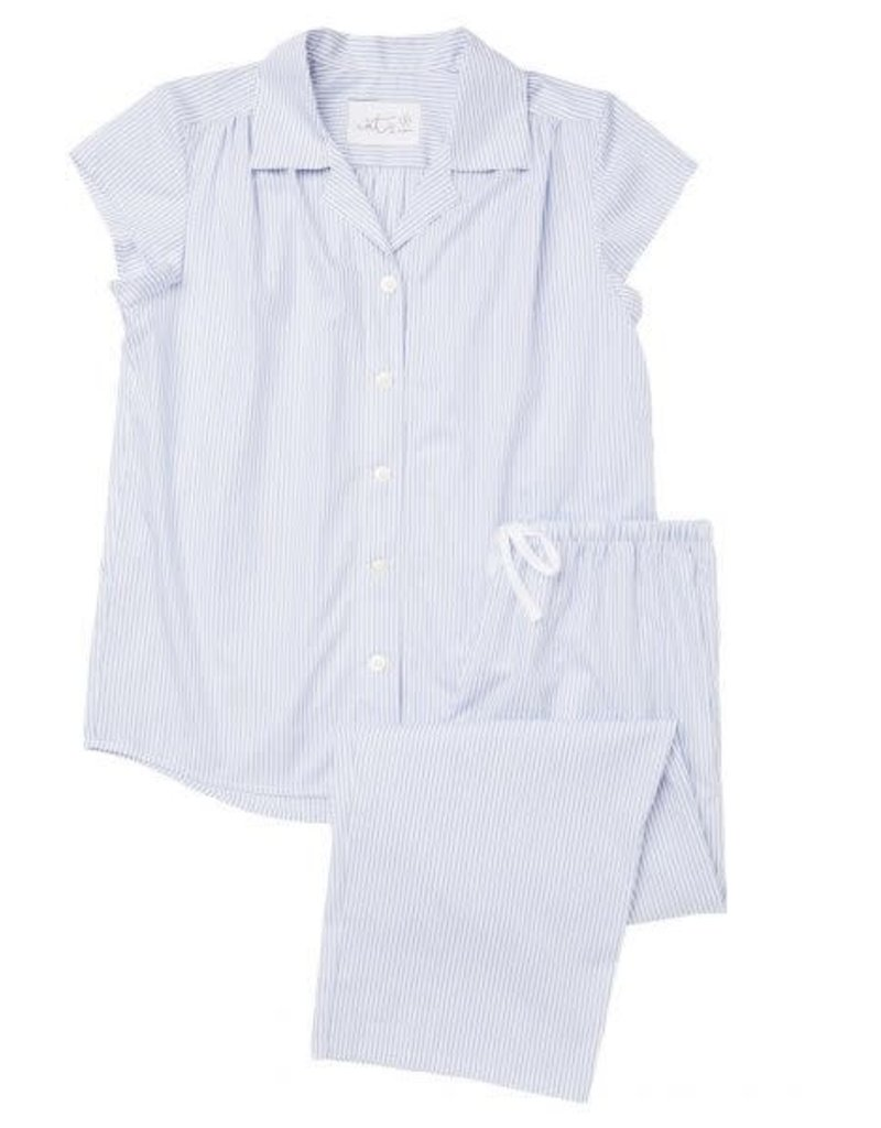 The Cat's Pajamas Luxe Pima Capri Simple Stripe