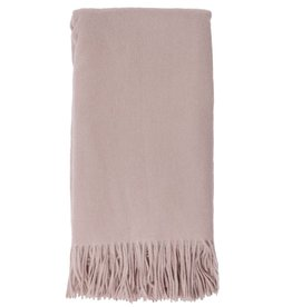 Alashan Cashmere Co. Merino/Cashmere Ripple Finish Throw Bisque