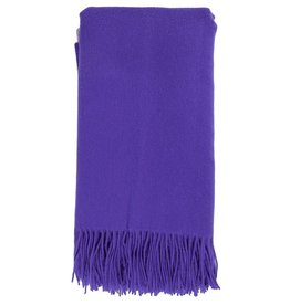 Alashan Cashmere Co. Merino/Cashmere Ripple Finish Throw Grape