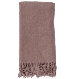 Alashan Cashmere Co. Merino/Cashmere Ripple Finish Throw Mushroom