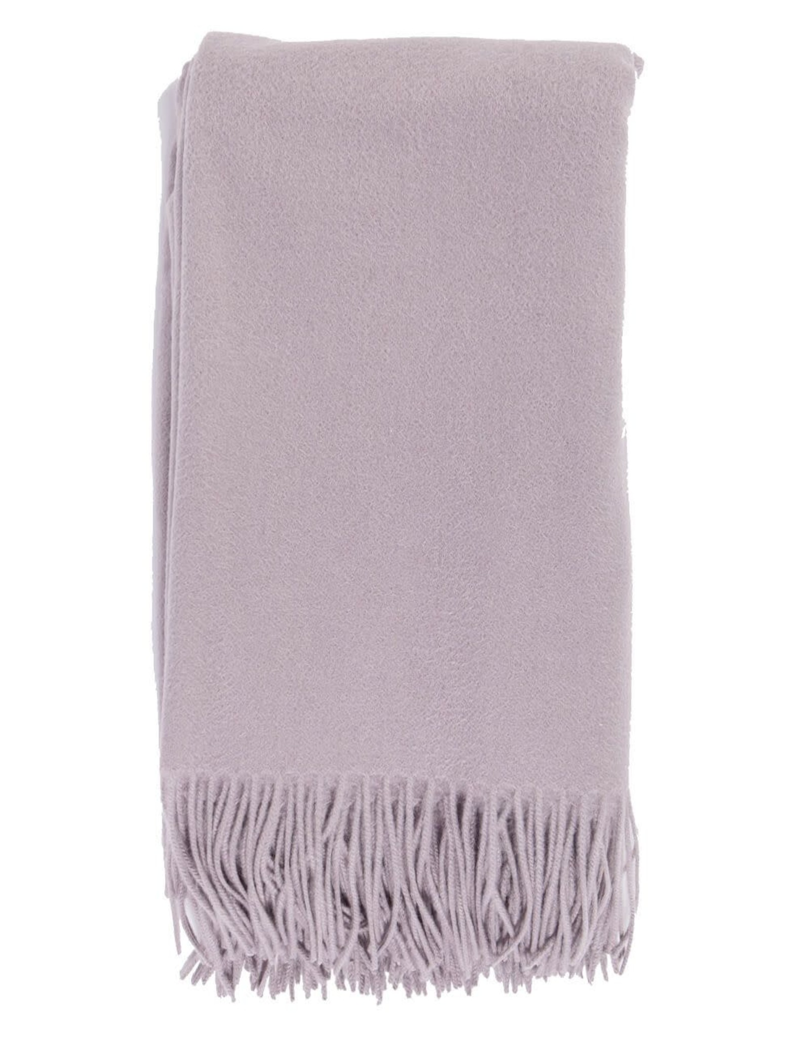 Alashan Cashmere Co. Merino/Cashmere Ripple Finish Throw Platinum