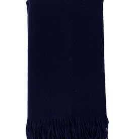 Alashan Cashmere Co. Merino/Cashmere Ripple FinishThrow Navy