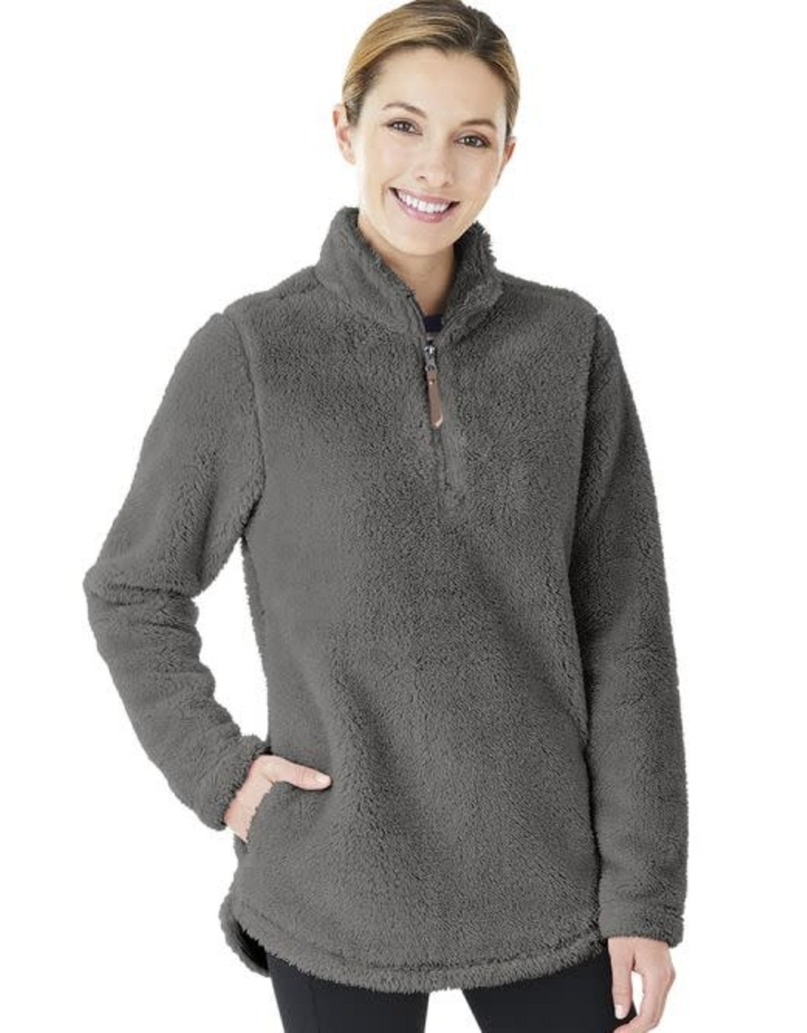 Charles River Apparel W's Newport Fleece Pullover Charcoal