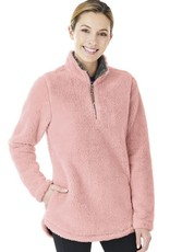 Charles River Apparel W's Newport Fleece Pullover Powder Pink