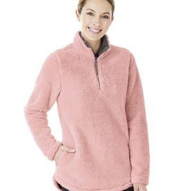 Charles River Apparel W's Newport Fleece Pullover Powder Pink