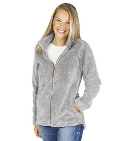 Charles River Apparel W's Newport Fleece Jacket Light Grey