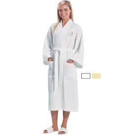Terry Town Waffle Robe White 48in