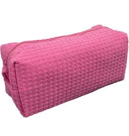 Terry Town Small Waffle Cosmetic Hot Pink