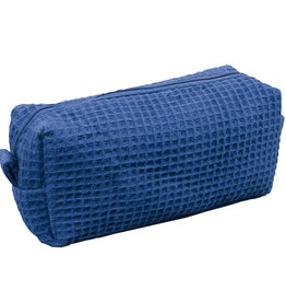 Terry Town Small Waffle Cosmetic Navy