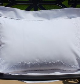 Pillow White Embroidery