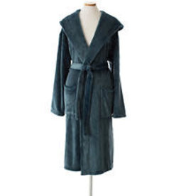 Pine Cone Hill Selke Fleece Hooded Robe Juniper One Size