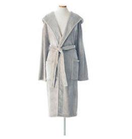 Pine Cone Hill Selke Fleece Hooded Robe Pearl Grey