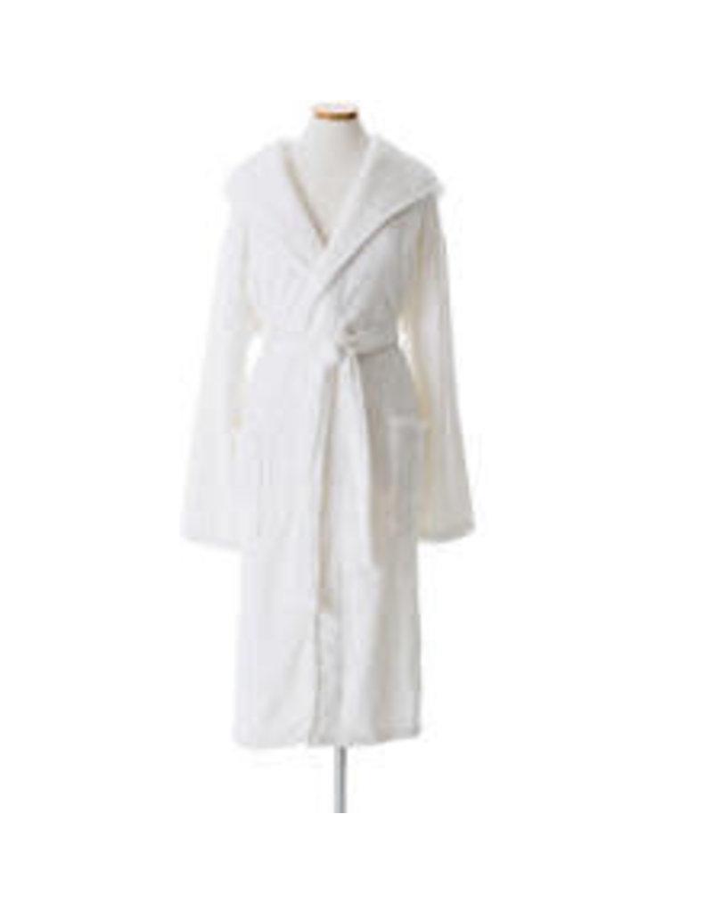 Pine Cone Hill Selke Fleece Hooded Robe White