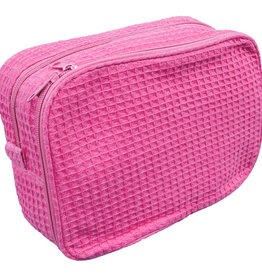 Terry Town Waffle Cosmetic Hot Pink