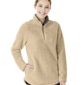 Charles River Apparel W's Newport Fleece Pullover Sand