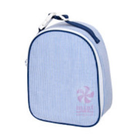 Oh Mint Gumdrop Lunchbox Navy Seersucker