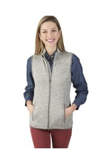 Charles River Apparel Women's heathered fleece Vest Light Grey